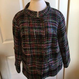 Talbots colorful wool blend jacket 20w